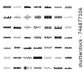sound wave icons set. simple... | Shutterstock .eps vector #746877106