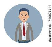 joyed businessman isolated on...   Shutterstock .eps vector #746878144