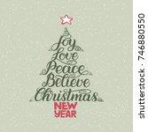 calligraphy lettering in... | Shutterstock .eps vector #746880550
