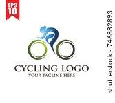 cycling logo | Shutterstock .eps vector #746882893