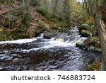 hoegne stream waterfall flows...   Shutterstock . vector #746883724