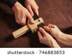 a close up of a skinner and his ... | Shutterstock . vector #746883853