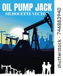 oil rig industry silhouettes ...   Shutterstock .eps vector #746883940