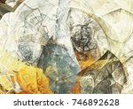 abstract painting color texture.... | Shutterstock . vector #746892628