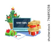 vector illustration gift box... | Shutterstock .eps vector #746893258