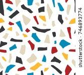 abstract terrazzo mosaic... | Shutterstock .eps vector #746893774