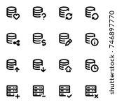 server icons | Shutterstock .eps vector #746897770