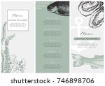 hand drawn fish illustration.... | Shutterstock .eps vector #746898706