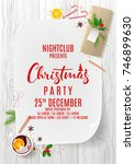 promo poster to merry christmas ... | Shutterstock .eps vector #746899630