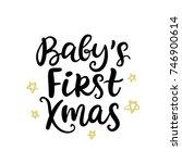 christmas ink hand lettering....   Shutterstock .eps vector #746900614