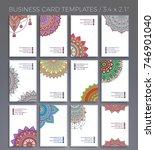 business card. vintage... | Shutterstock .eps vector #746901040