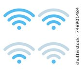 wi fi different signal levels.... | Shutterstock .eps vector #746901484