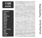 icon set of 1100 icons   mixed... | Shutterstock .eps vector #746902996