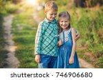 children s having fun and happy ... | Shutterstock . vector #746906680