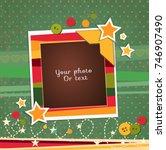 decorative vector template... | Shutterstock .eps vector #746907490