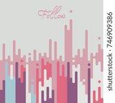 vector multicolor dripping... | Shutterstock .eps vector #746909386
