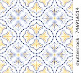traditional portugal azulejos... | Shutterstock .eps vector #746916514