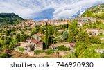 view of  valldemossa village ... | Shutterstock . vector #746920930