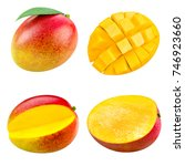mango fruit collection isolated ... | Shutterstock . vector #746923660