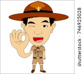 scout actor | Shutterstock .eps vector #746925028
