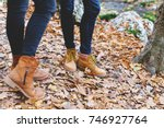 leather brown boots. clothing... | Shutterstock . vector #746927764