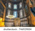 hagia sophia interior  istanbul ... | Shutterstock . vector #746929834