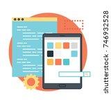 flat design concept for app... | Shutterstock .eps vector #746932528