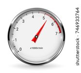 tachometer. round gage with... | Shutterstock .eps vector #746933764