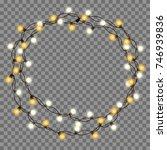 christmas tree string garland... | Shutterstock .eps vector #746939836