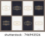 vintage creative cards template ...   Shutterstock .eps vector #746943526