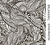 decorative abstract figured... | Shutterstock .eps vector #746944768
