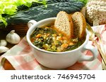 ribollita tuscany  typical...   Shutterstock . vector #746945704