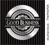 good business silver shiny badge | Shutterstock .eps vector #746946904