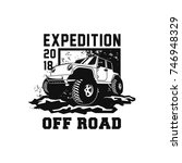 off road car 4x4 vehicle event  ... | Shutterstock .eps vector #746948329
