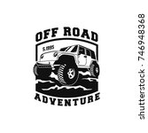 off road car 4x4 vehicle event  ... | Shutterstock .eps vector #746948368