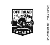 off road car 4x4 vehicle event  ... | Shutterstock .eps vector #746948404
