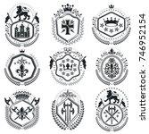 old style heraldry  heraldic... | Shutterstock .eps vector #746952154