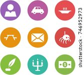 origami corner style icon set   ... | Shutterstock .eps vector #746952973