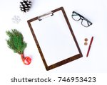 christmas and new year... | Shutterstock . vector #746953423