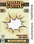 comic book cover retro. style...   Shutterstock .eps vector #746955046