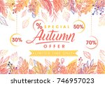 autumn special offer banner... | Shutterstock .eps vector #746957023