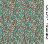 hand drawn pattern with... | Shutterstock .eps vector #746957098