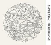 business diagram line icons...   Shutterstock .eps vector #746958349