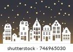 laser cutting amsterdam style... | Shutterstock .eps vector #746965030