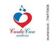 vector heart shape logo created ...   Shutterstock .eps vector #746970838