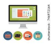 online shopping concept.... | Shutterstock .eps vector #746972164