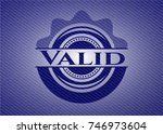 valid emblem with jean high... | Shutterstock .eps vector #746973604