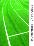 Small photo of Running Track, detail of a track for sports