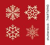 simple  luxurious winter snow... | Shutterstock .eps vector #746976940