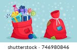 Santa Claus Red Bag With Patch...